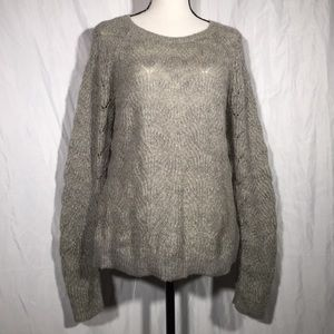 Ann Taylor Loft Scalloped Mohair Blend Sweater 🦖